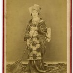 ANONIMO RAGAZZA DI KYOTO, [Giappone,1865]