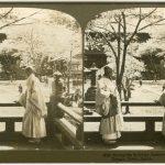 UNDERWOOD & UNDERWOOD PUBLISHERS NEW YORK VEDUTA PRIMAVERILE DEL TEMPIO SHIBA IN GIAPPONE, Tokyo, 1906