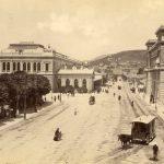 42. Sebastianutti & Benque, Piazza Libertà e Stazione meridionale, [post 1878] F17617