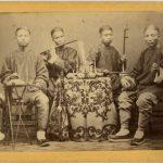 ANONIMO - SUONATORI CINESI, [Cina, 1865]
