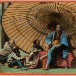 UFFICIALE DEL GOVERNO GIAPPONESE CON I SUOI INSERVIENTI, [Yokohama, 1869-1870]
